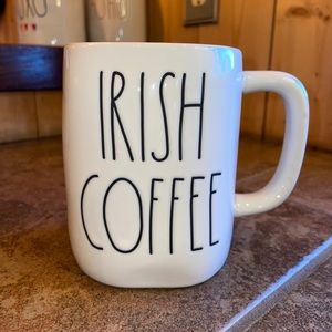 "Rae Dunn 2 sided ""Irish Coffee"" & ""🍀"" Mug"